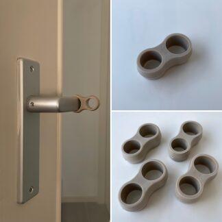 SumioProducts Door Stops / Door Handle Buffers Taupe (Beige)